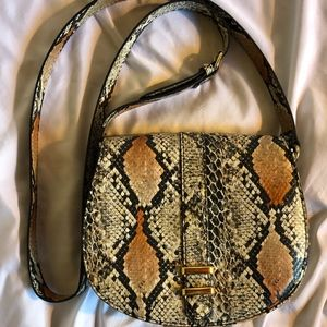 Neiman Marcus Bags - 2 NM Faux Leather Python Crossbody Bags